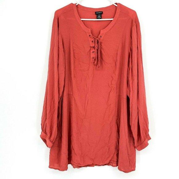 Torrid Women's Causal Blouse Long Sleeve Top Shirt